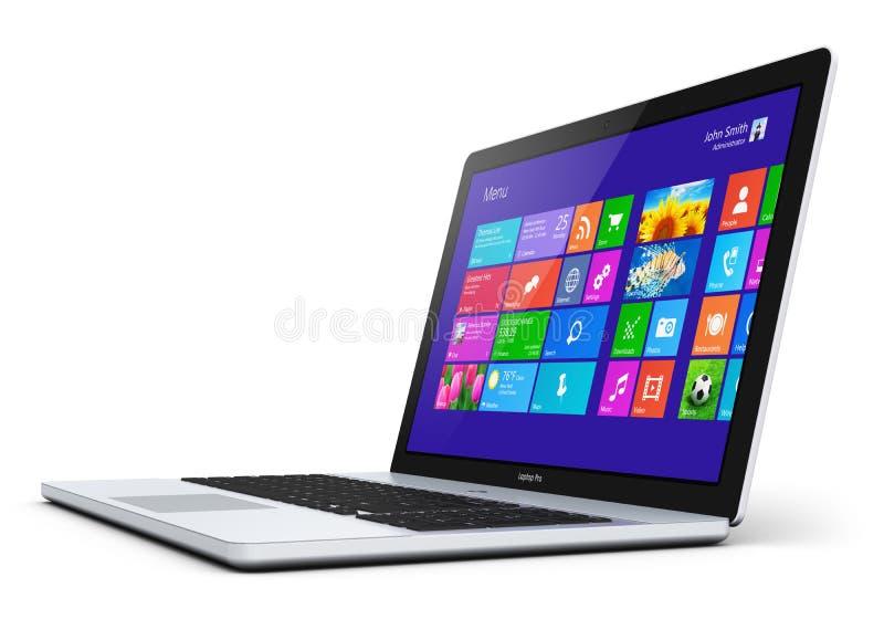 Nowożytny laptop ilustracji