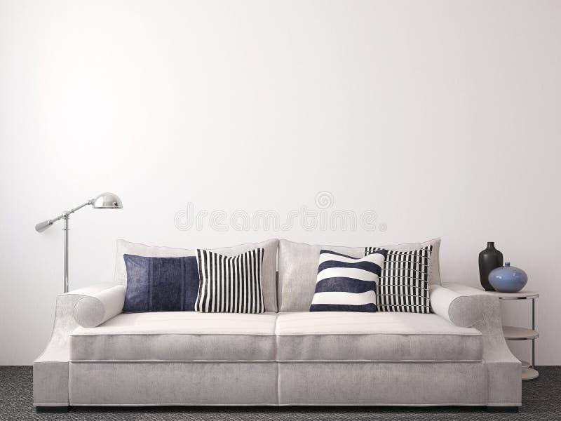 Nowożytny living-room royalty ilustracja