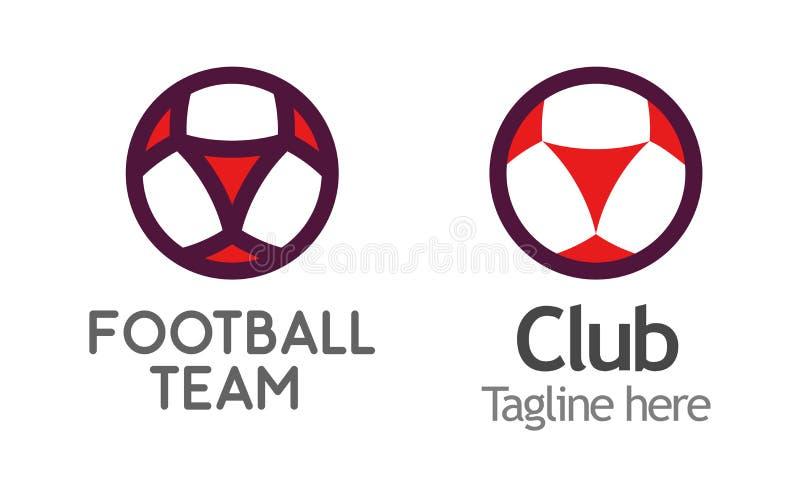 Nowożytny logo dla klubu, ligi lub szkoły futbolu, Wektorowa emblemat ilustracja ilustracji