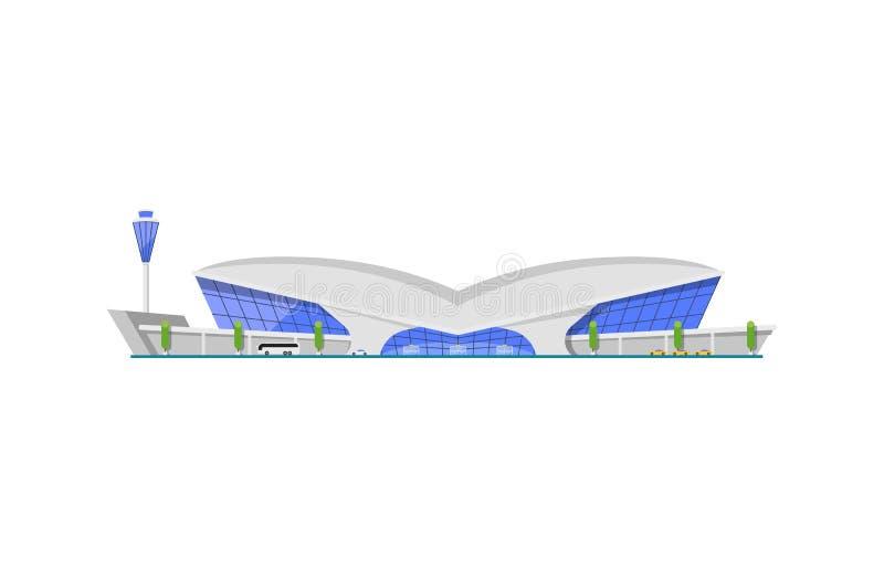 Nowożytny lotniskowy śmiertelnie budynku element ilustracja wektor