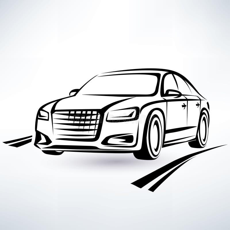 Nowożytny luksusowy samochodowy symbol royalty ilustracja