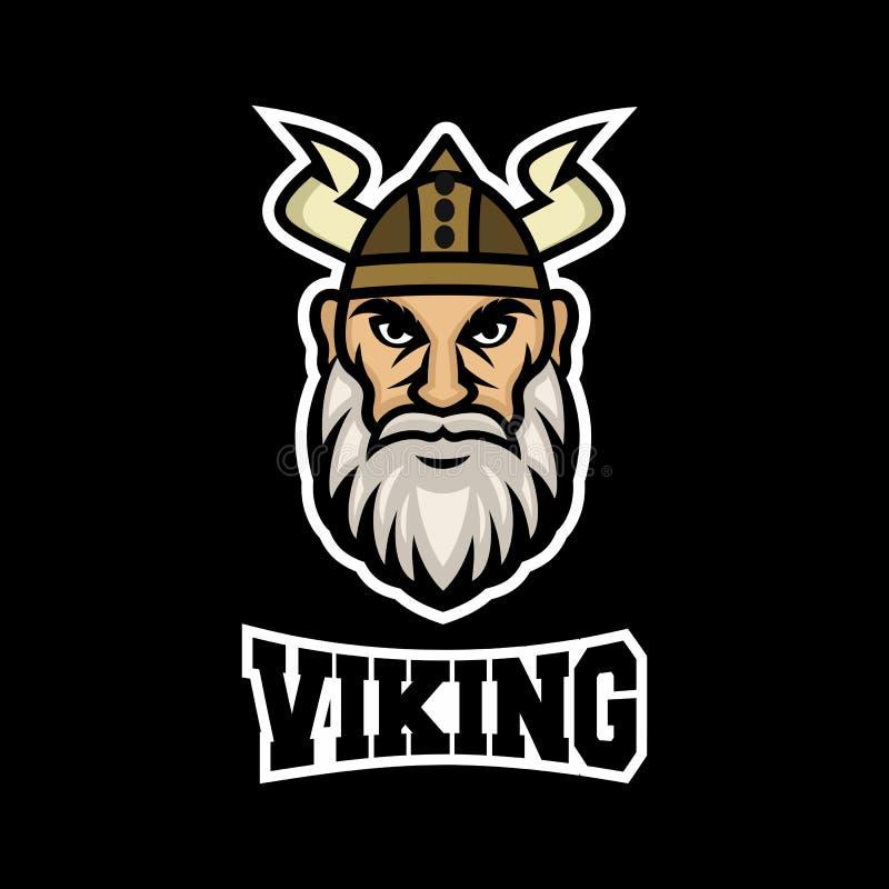 Nowo?ytny maskotki Viking logo r?wnie? zwr?ci? corel ilustracji wektora ilustracji