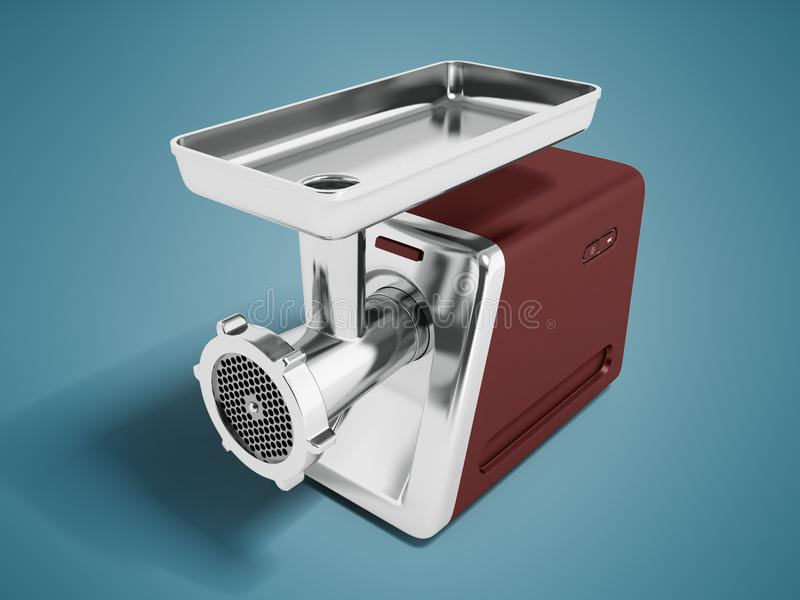 Nowożytny maszynka do mięsa brąz dla szlifierskiego mięsnego perspektywy 3d rende royalty ilustracja