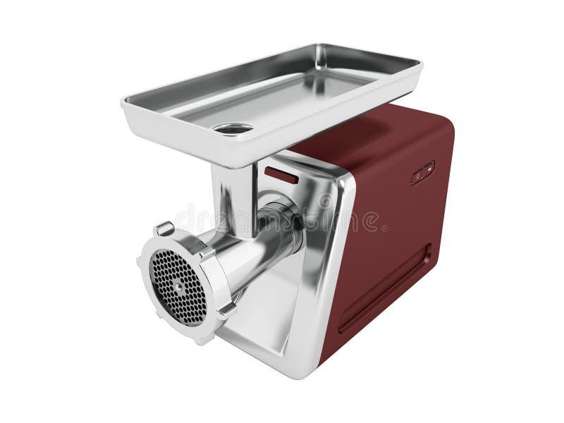 Nowożytny maszynka do mięsa brąz dla szlifierskiego mięsnego perspektywy 3d rende ilustracja wektor
