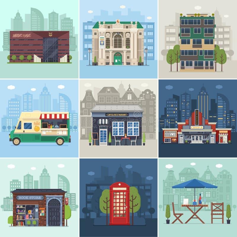 Nowożytny miasta środowisko, infrastruktura i ilustracji