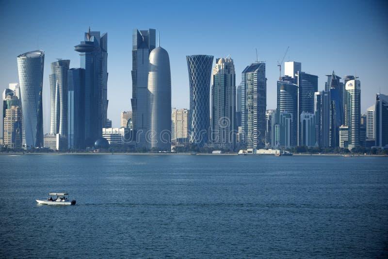 Nowożytny miasto w Doha obrazy royalty free
