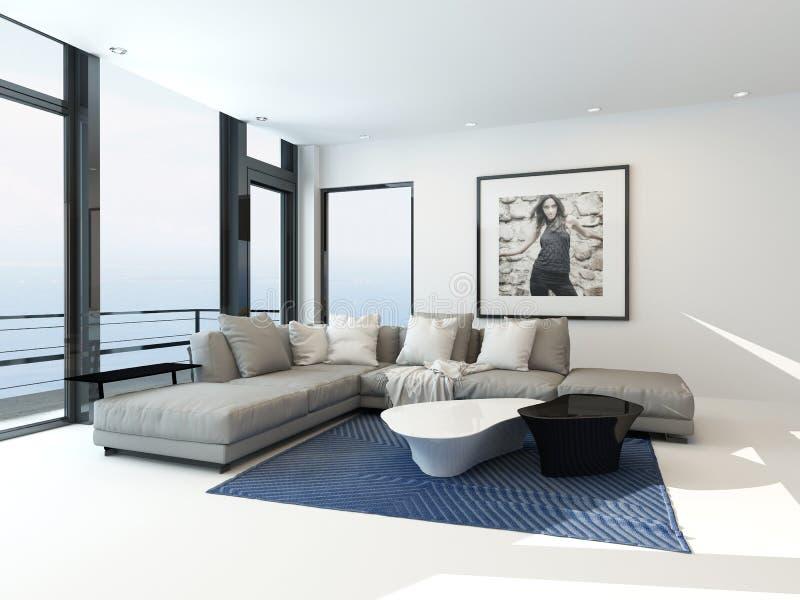 Nowożytny nabrzeża mieszkania wnętrze ilustracja wektor