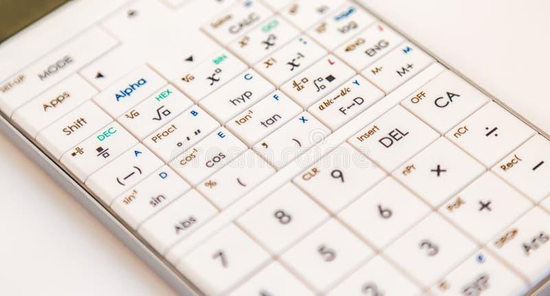 Nowożytny naukowy kalkulator fotografia royalty free