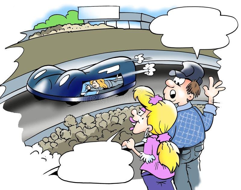Nowożytny nowy C02 - Auto ścigać się royalty ilustracja