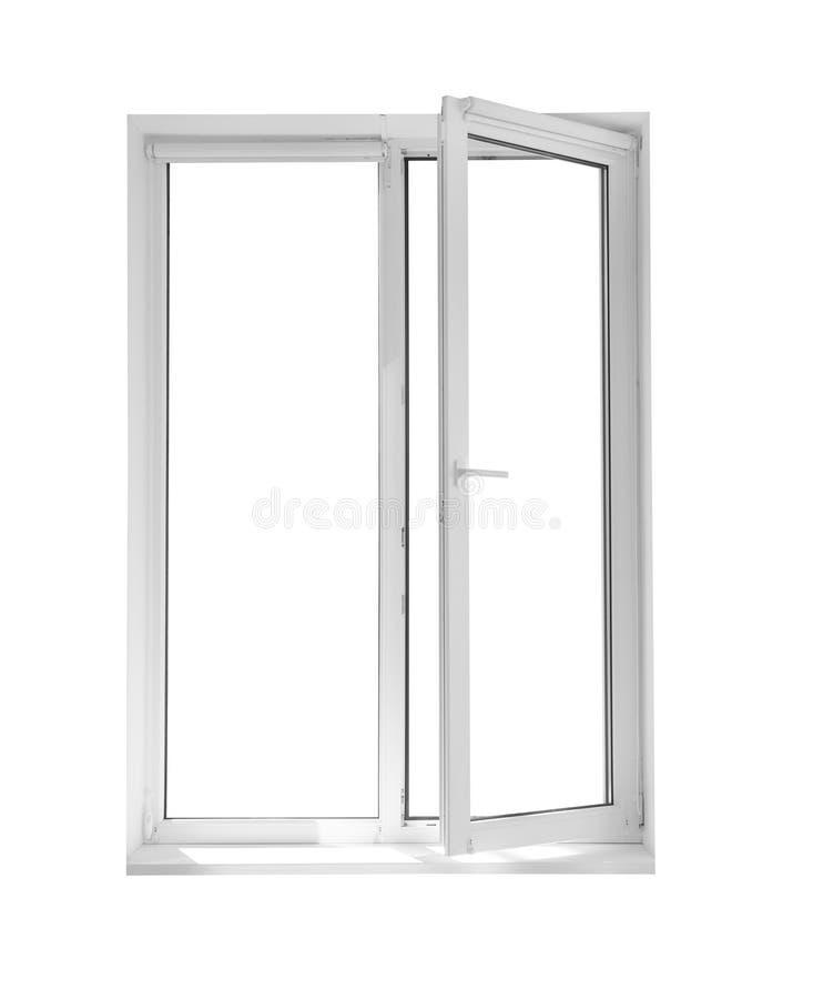 Nowożytny okno z otwartymi rolkowymi storami zdjęcia stock