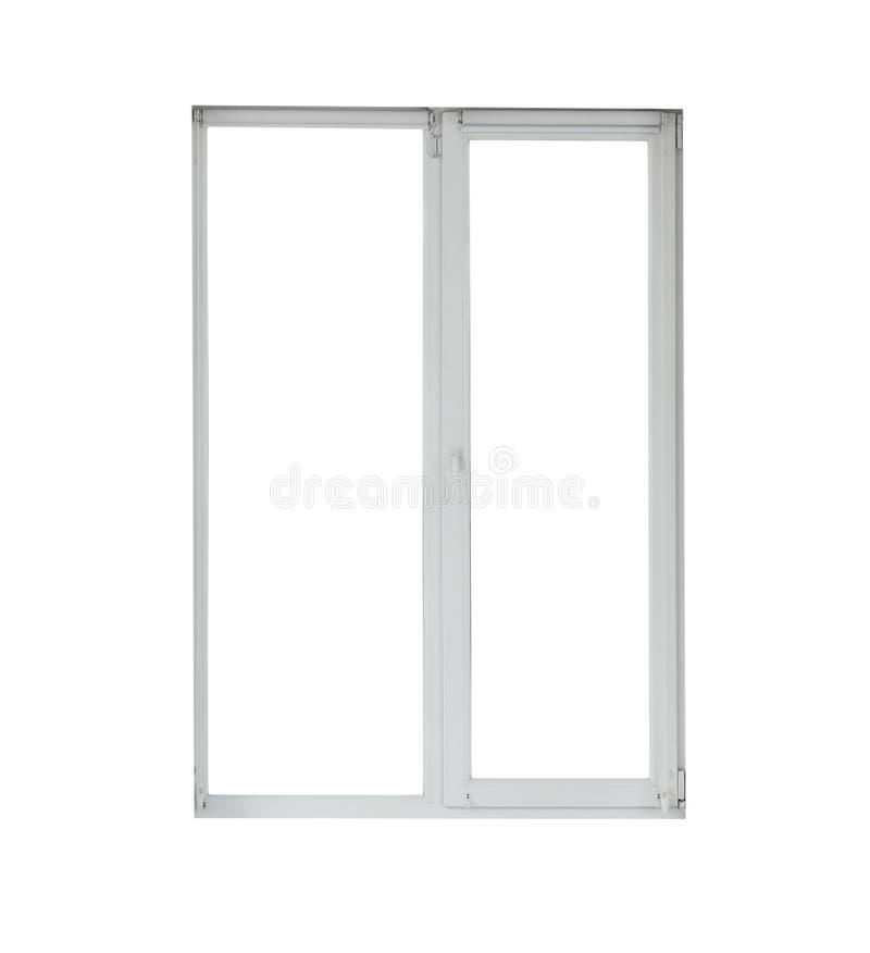 Nowożytny okno z otwartymi rolkowymi storami obrazy royalty free