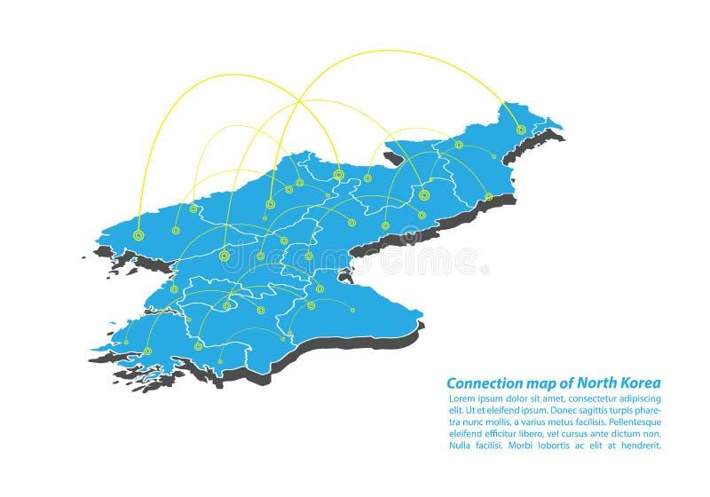 Nowożytny Północnego Korea mapy związków sieci projekt, Najlepszy Internetowy pojęcie Północnego Korea mapy biznes od pojęcie ser ilustracji