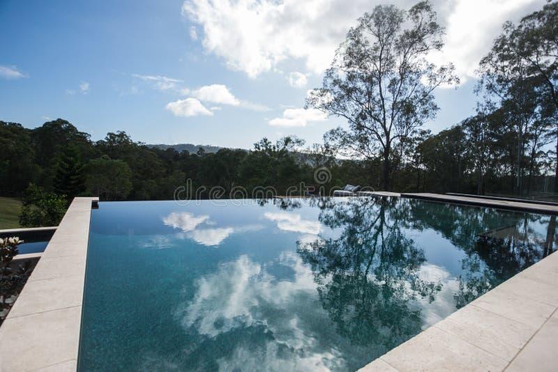 Nowożytny pływackiego basenu zakończenie up od kąta zdjęcie stock