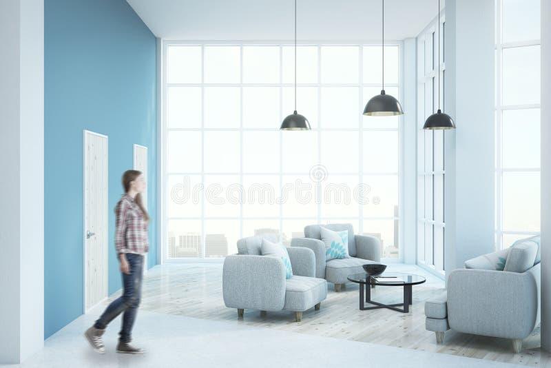 Nowożytny pogodny żywy pokój zdjęcie stock