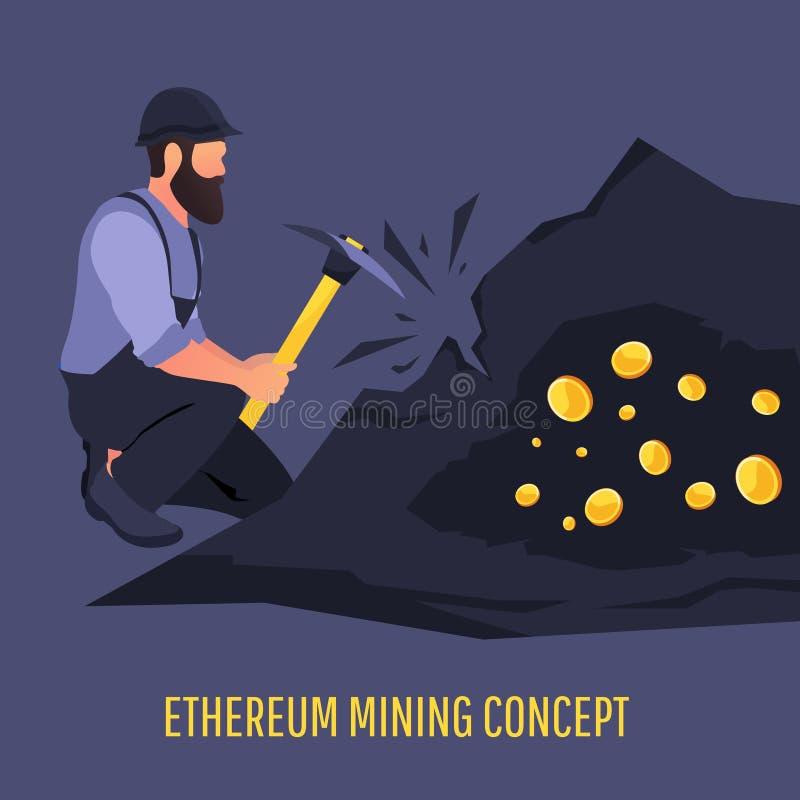 Nowożytny pojęcie Crypto Cyfrowy kolonel ilustracji