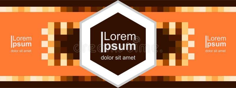 Nowożytny pomarańczowy sztandaru tło, chodnikowa szablonu wektor, ląduje stronę ilustracji