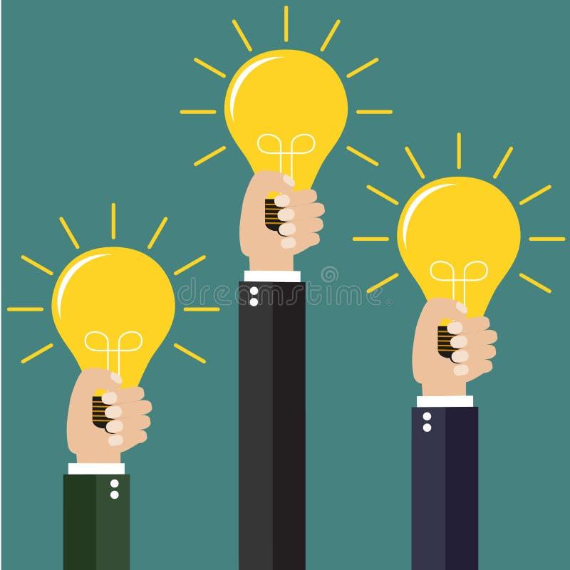 nowożytny pomysł innowaci żarówki pojęcie ilustracji