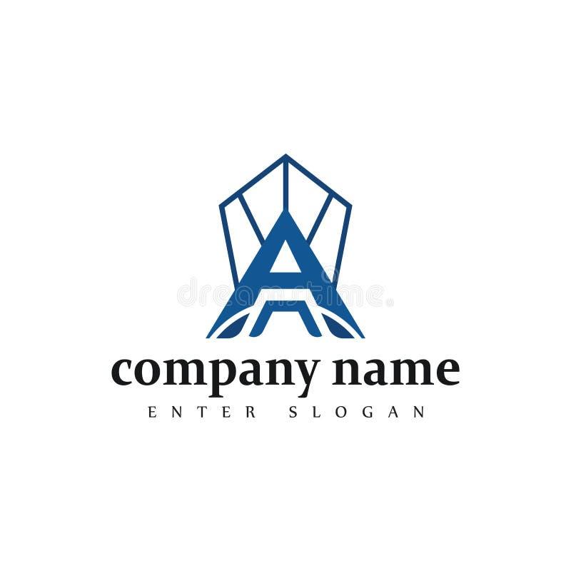 Nowożytny profesjonalisty list firma loga biznesowy projekt w wektorze ilustracja wektor