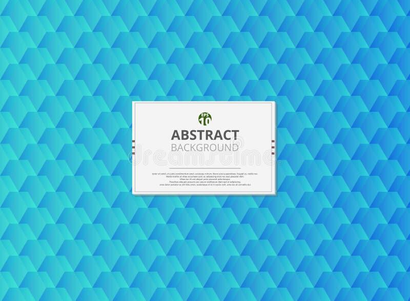 Nowożytny projekt abstrakcjonistyczny miękki gradientowy turkusowy geometrical wzoru tło Tworzyć dla nowego trendu sztuka ilustracja wektor