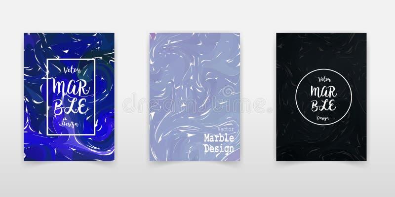 Nowożytny projekt A4 Abstrakt marmurowa tekstura barwiony jaskrawy ciecz maluje Pluśnięcie trendów farby U?ywa? projekt prezentac royalty ilustracja