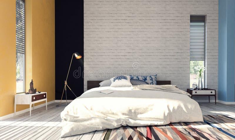 Nowożytny projekt sypialnia obraz royalty free
