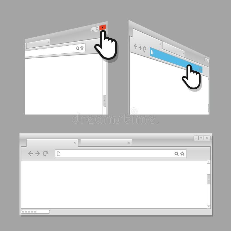 Nowożytny przeglądarka internetowa szablon ilustracja wektor