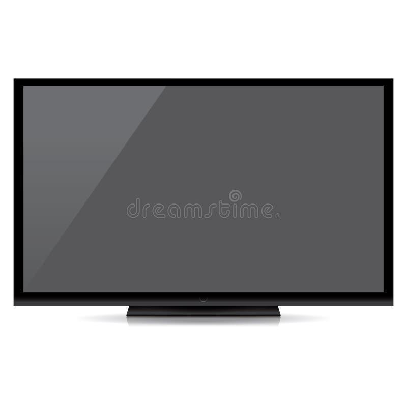 Nowożytny pusty płaski ekran tv odizolowywający na białym tle fotografia stock
