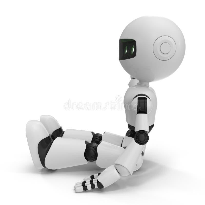 Nowożytny robot Odizolowywał 3D ilustrację Na Białym tle ilustracja wektor
