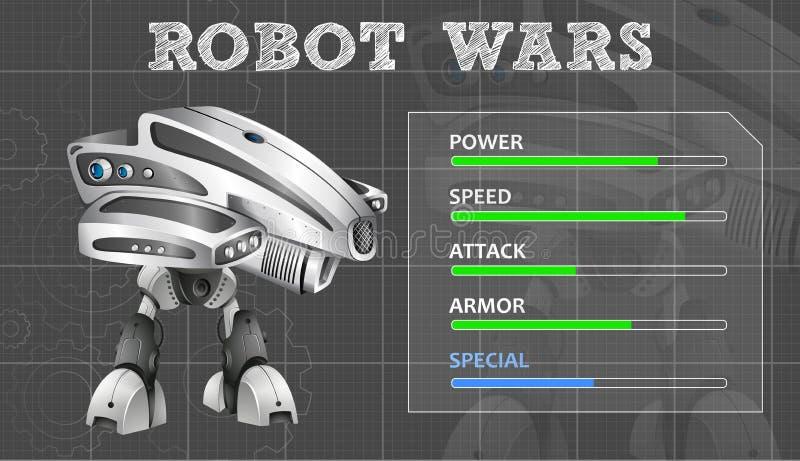 Nowożytny robota projekt z cechy deską royalty ilustracja