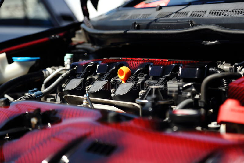 Nowożytny samochodowy silnik obrazy royalty free