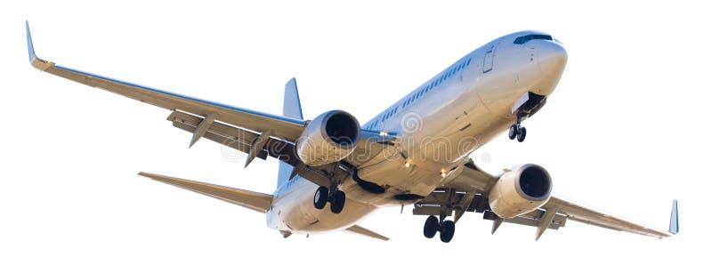 Nowożytny samolot na odosobnionym białym tle obrazy stock