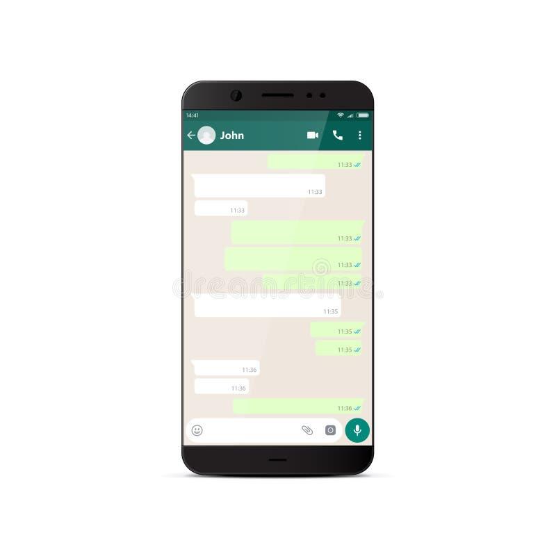 Nowożytny smartphone z gona okno ilustracja wektor