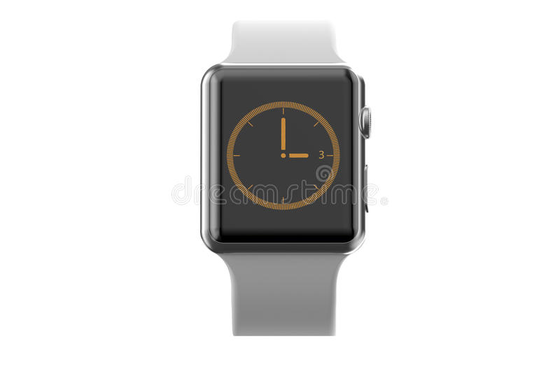 Nowożytny smartwatch royalty ilustracja
