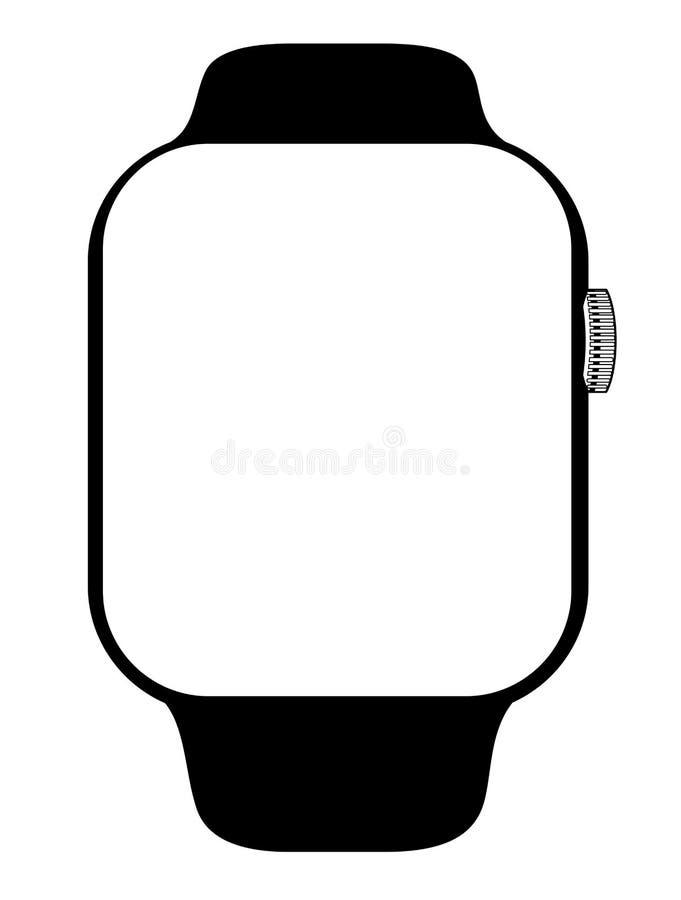 Nowożytny smartwatch projekt royalty ilustracja