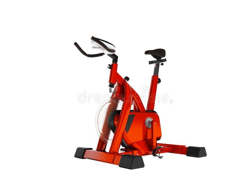 Nowożytny sporty czerwony trener dla siły szkolenia na bicyklu 3d odpłaca się na białym tle żadny cień ilustracji