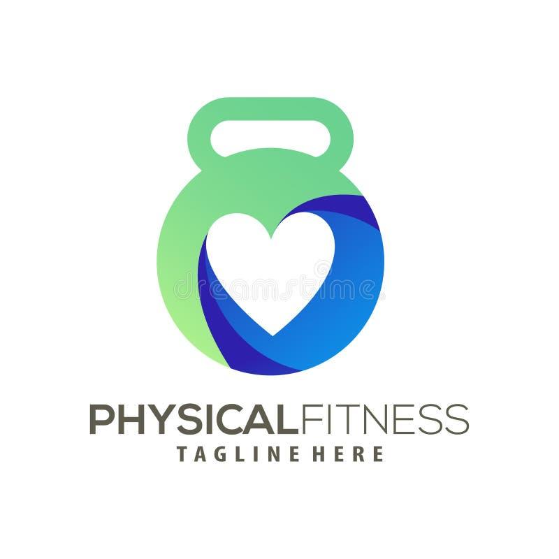 Nowożytny sprawność fizyczna logo i ikona projekt ilustracji