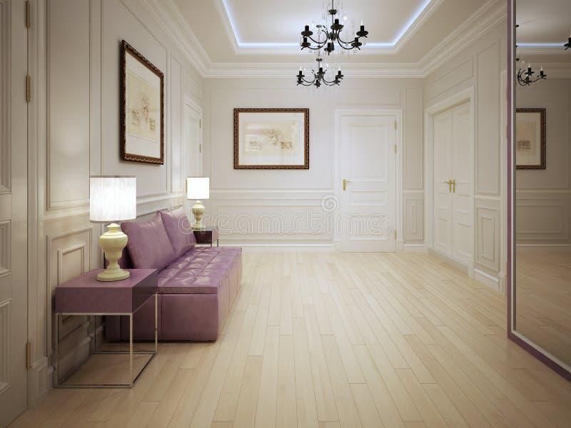 Nowożytny styl wejściowa sala zdjęcie royalty free
