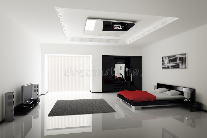 nowożytny sypialni wnętrze ilustracja wektor