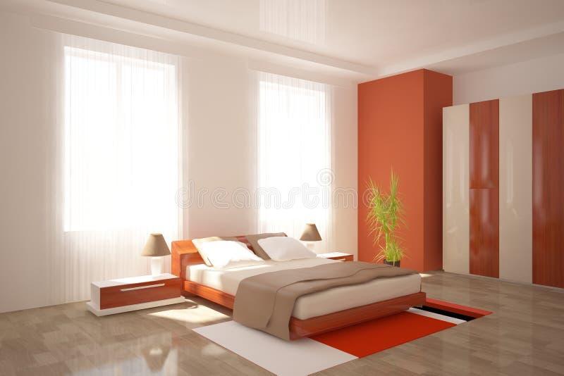 nowożytny sypialnia meble royalty ilustracja
