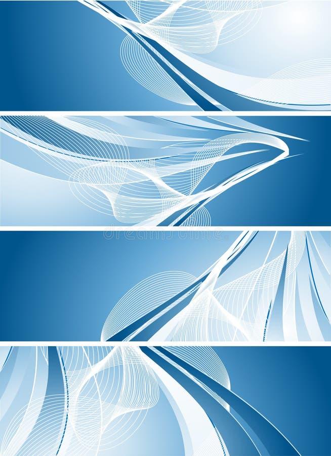 nowożytny sztandaru wektor ilustracji