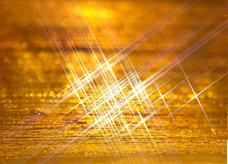 Nowożytny tło złote zorzy obrazy stock