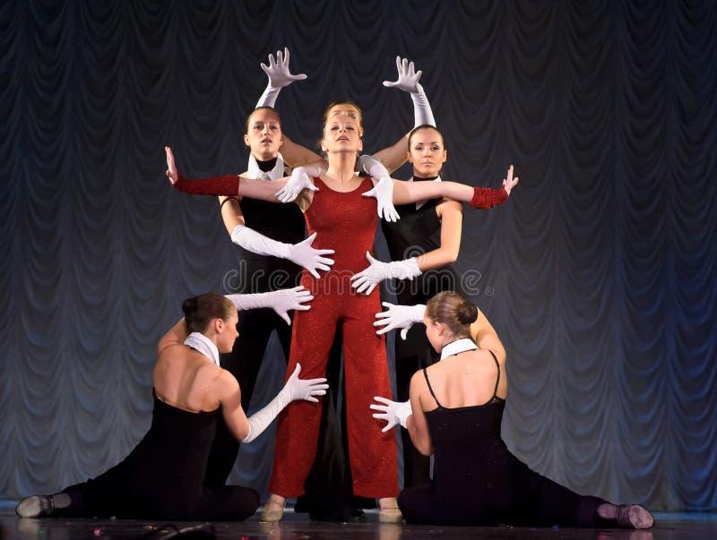 nowożytny tana występ zdjęcie royalty free