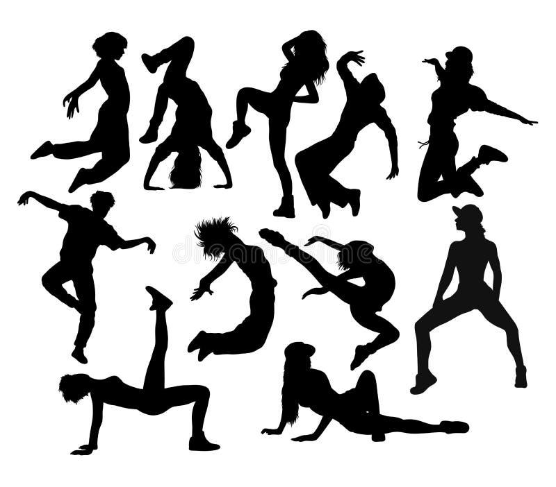 Nowożytny taniec, sylwetki sztuki wektorowy projekt ilustracja wektor