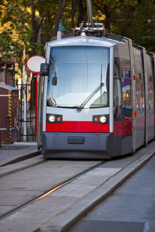 nowożytny tramwaj zdjęcie stock