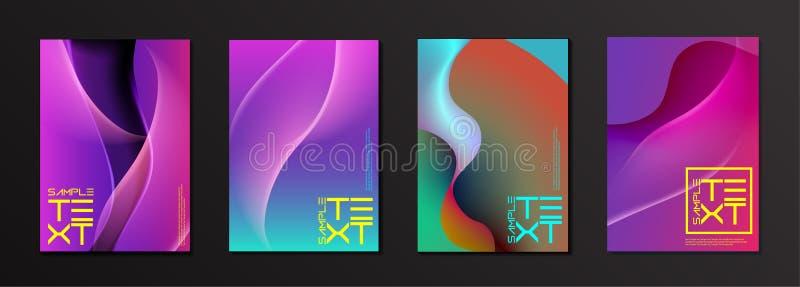 Nowożytny Uderzający Colour pokrywy projekt zdjęcie stock
