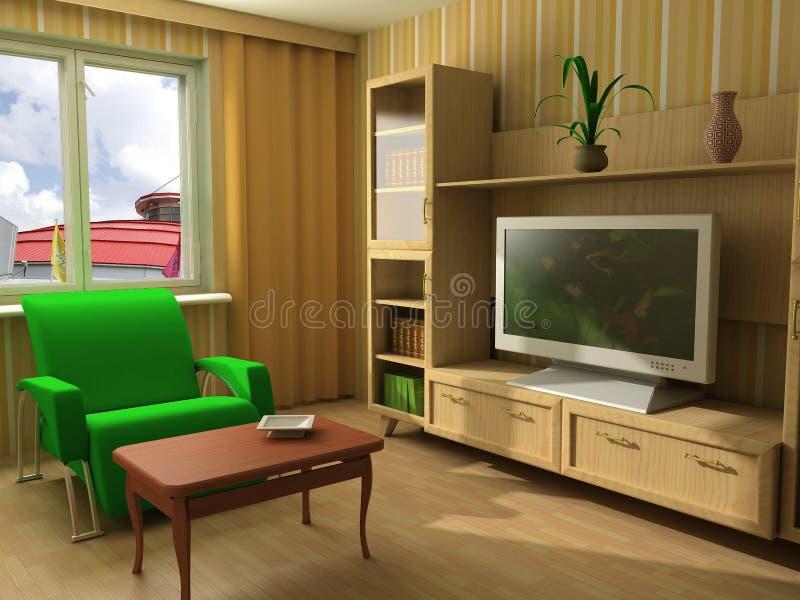 Nowożytny utrzymanie lub siedzący pokój ilustracja wektor