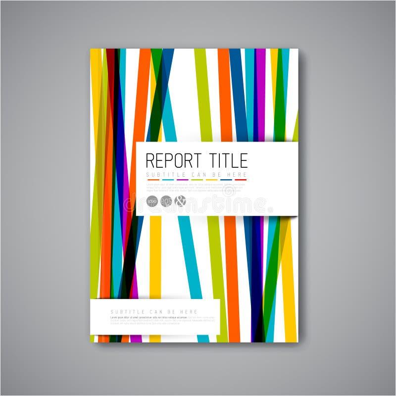 Nowożytny Wektorowy abstrakcjonistyczny broszurka projekta szablon ilustracja wektor