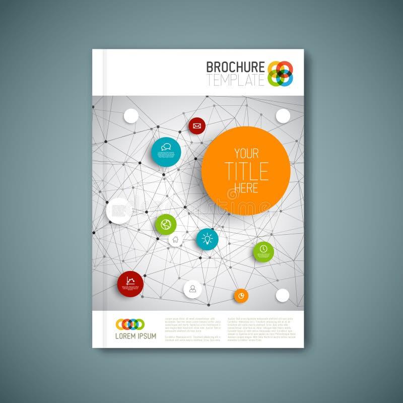 Nowożytny Wektorowy abstrakcjonistyczny broszurka raportu projekta szablon ilustracji