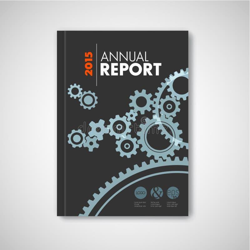 Nowożytny Wektorowy abstrakcjonistyczny broszurki, raportu projekta szablon/ royalty ilustracja