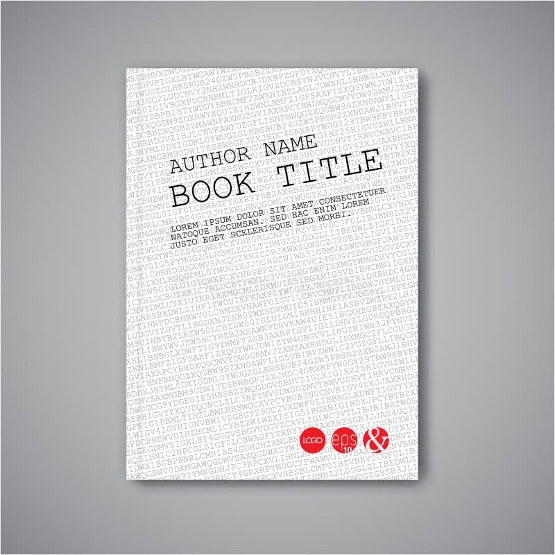 Nowożytny Wektorowy abstrakt książki projekta szablon royalty ilustracja